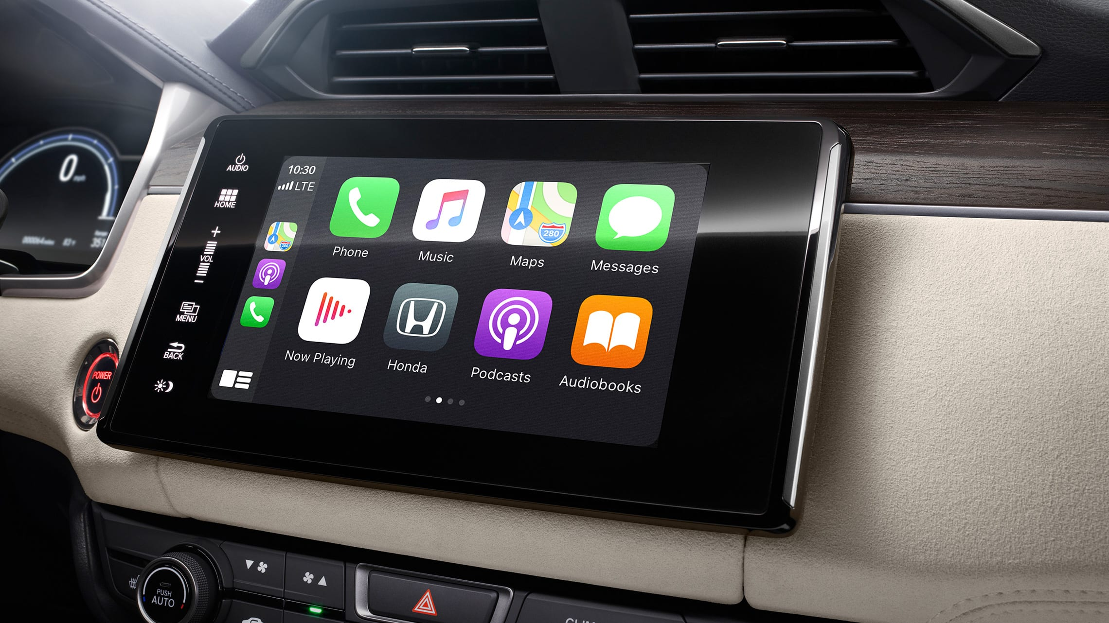 Detail of Apple CarPlay® Integration on 8-inch Display Audio touch-screen.